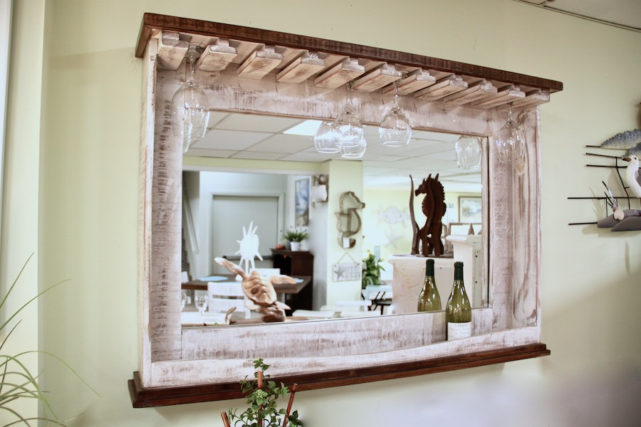 rustic mirror bar