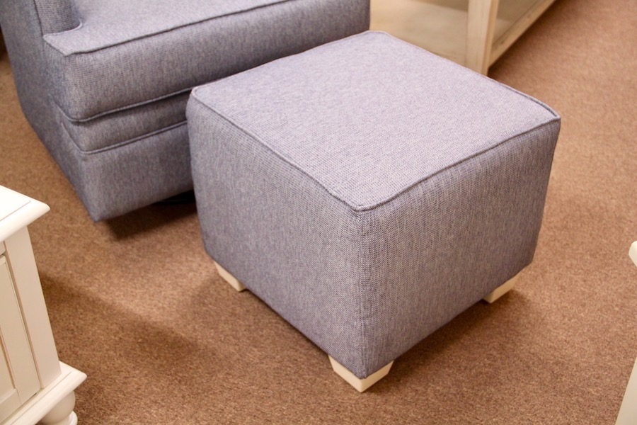 small ottoman in cube shape