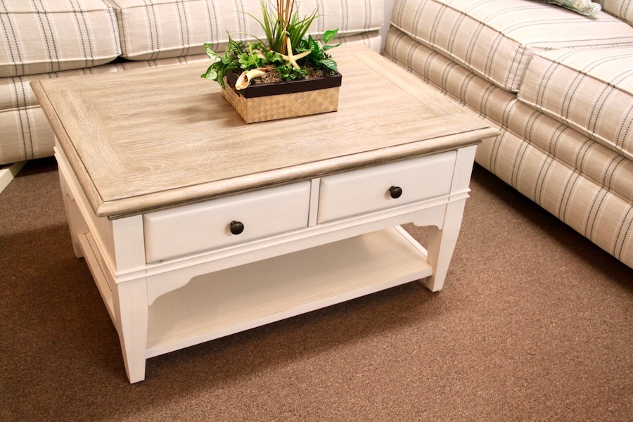coastal two tone coffee table