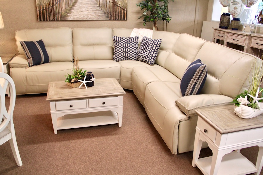 reclining sectional with power headrest