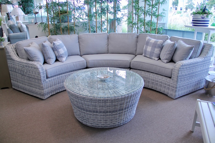 outdoor furniture woven sectional