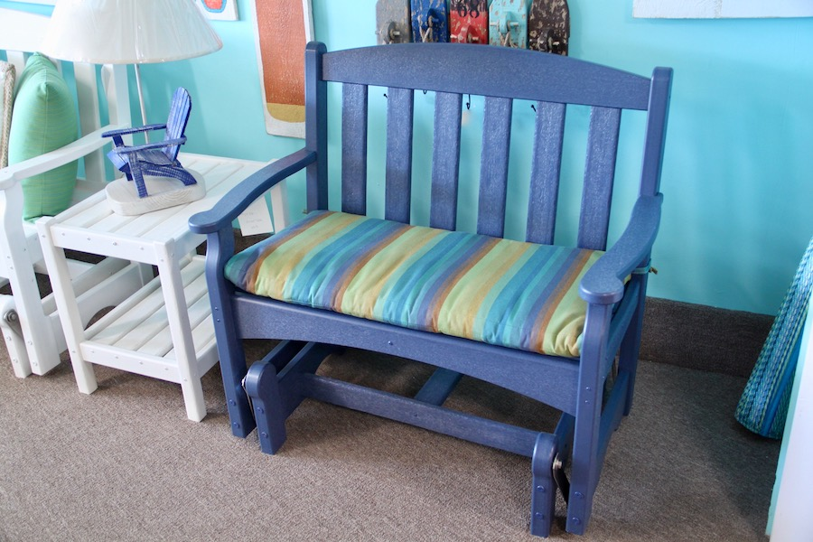 outdoor furniture glider bench