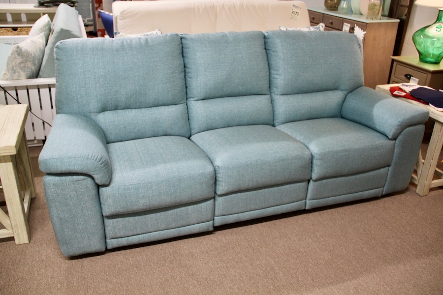 clearance double reclining sofa