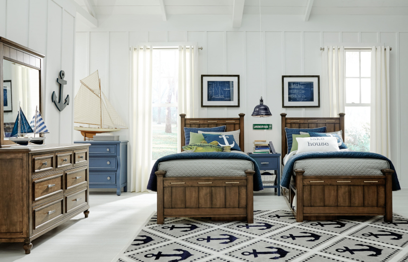nautical twin beds bedroom