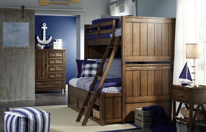 nautical bunkbed bedroom