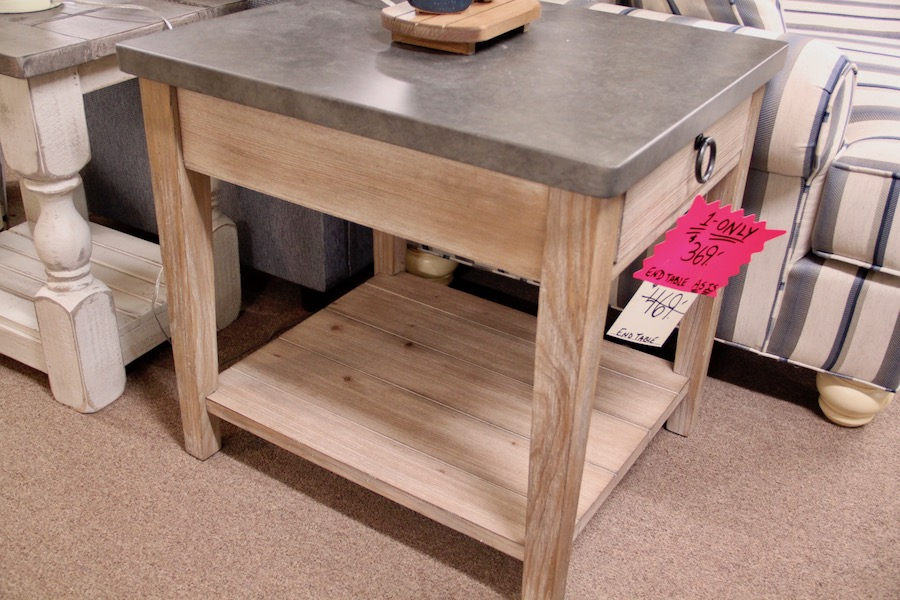 clearance metal top end table