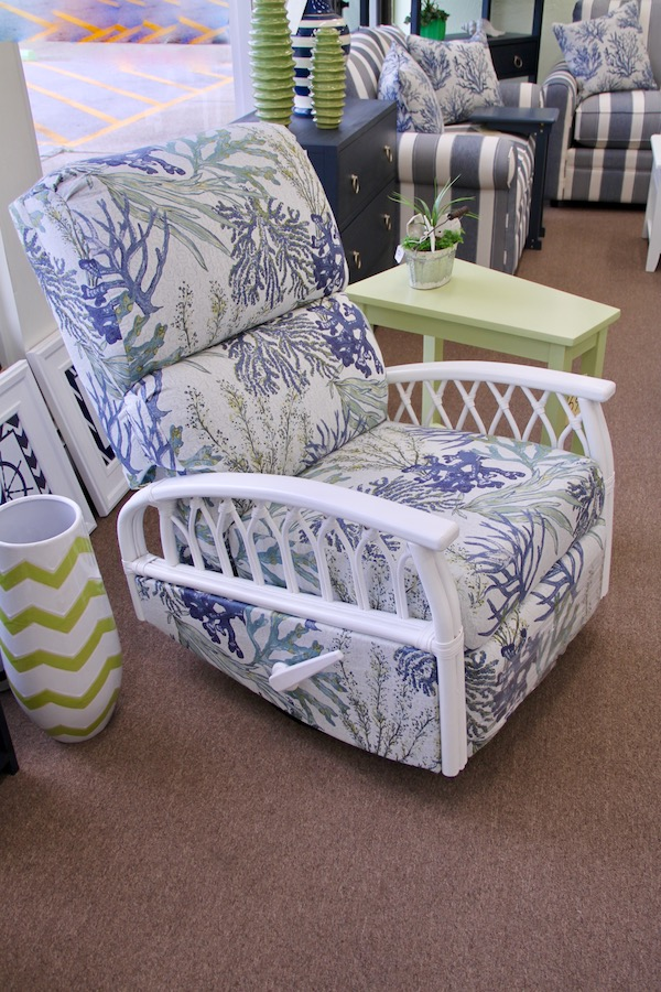 beachy swivel recliner glider