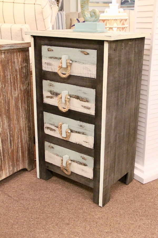 nautical accent cabinet