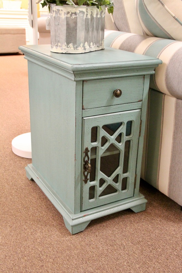 accent cabinet turquoise