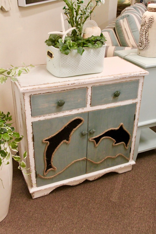 dolphin accent cabinet