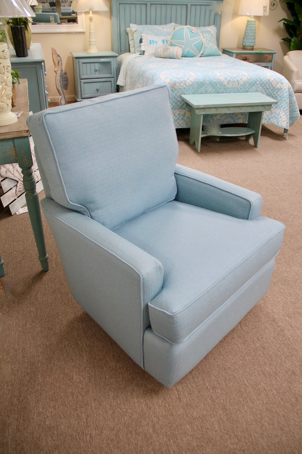 beachy swivel glider chair