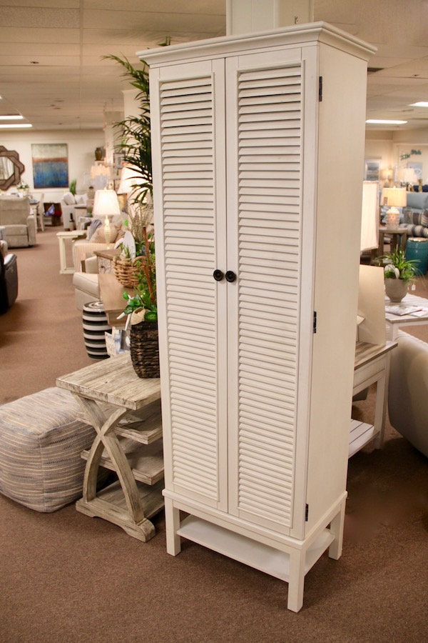 tall louvered cabinet