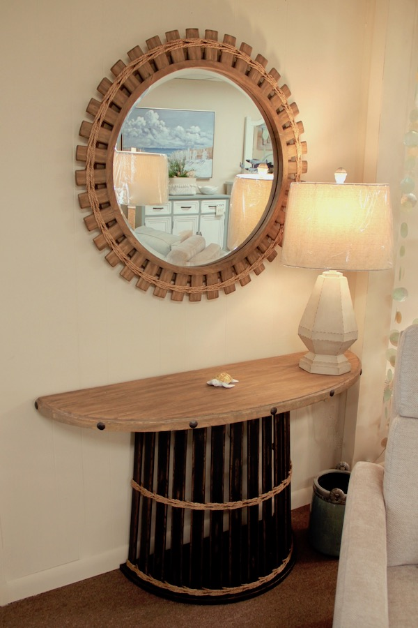 nautical mirror and console