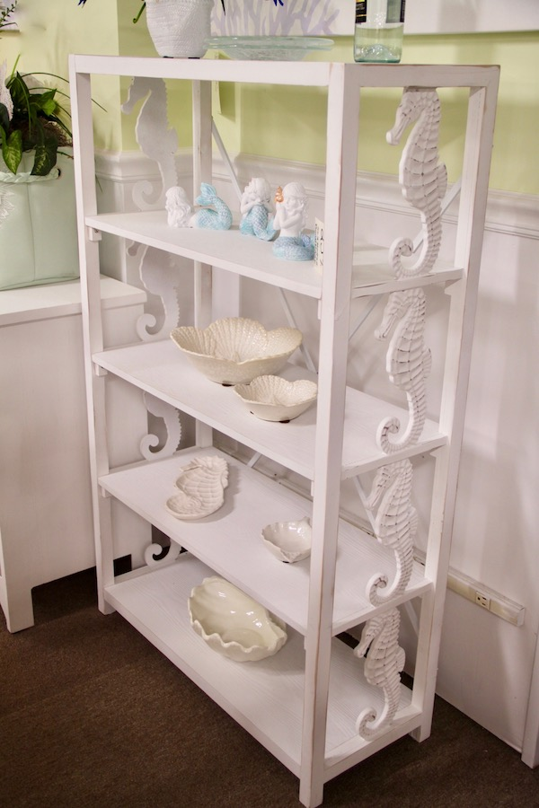 seahorse and starfish shelves