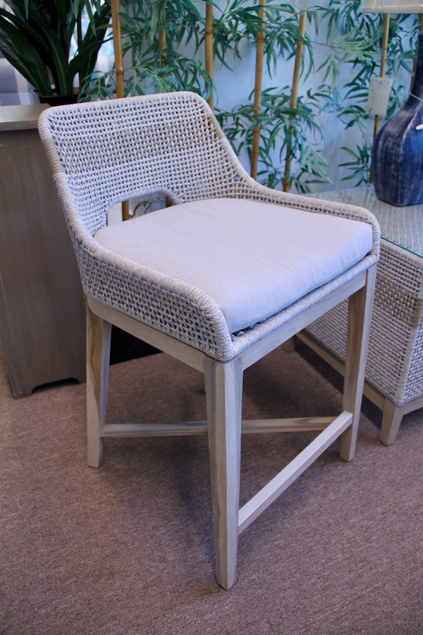 woven outdoor counter stool