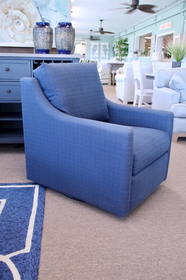 coastal swivel chair