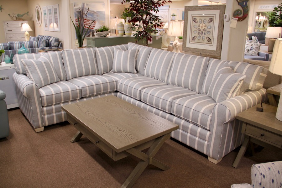 coastal striped sectional