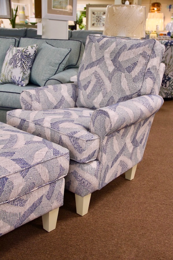 geometric fabric chair