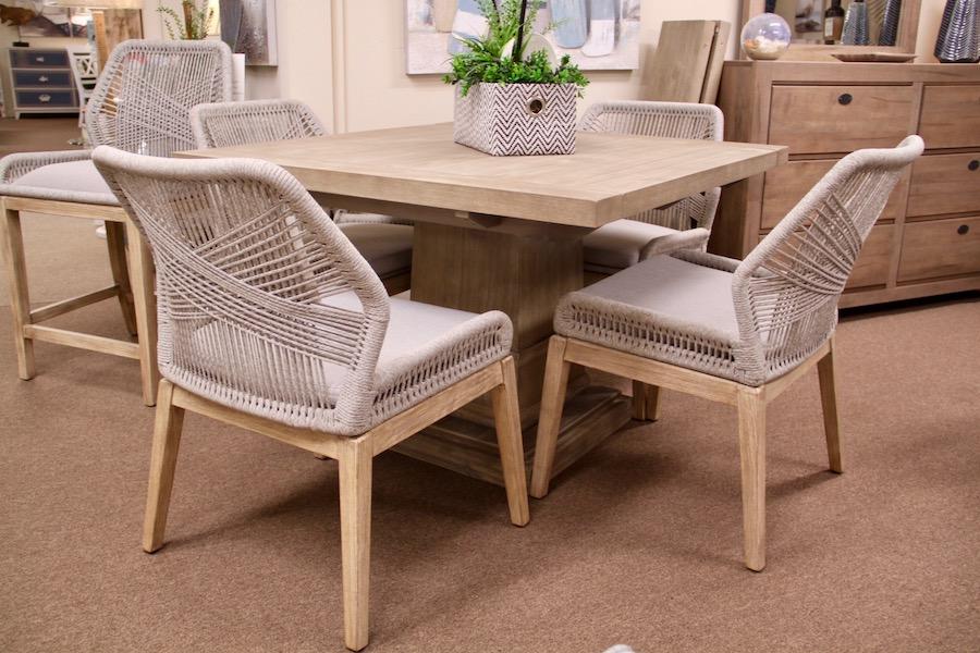 contemporary woven chair